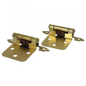 Self Closing Hinge, 3 Knuckle, Brass Plated