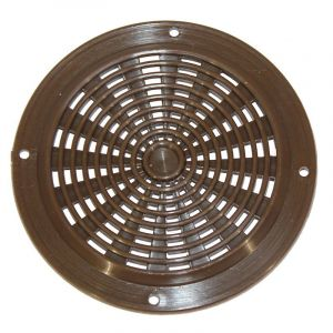 Air Vent, 63mm, Round, Plastic, Brown