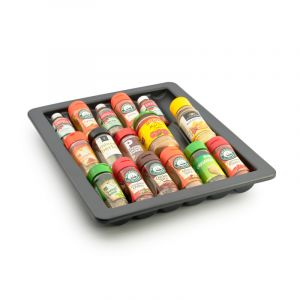 Moulded Spice Tray, Charcoal Plastic, 450mm