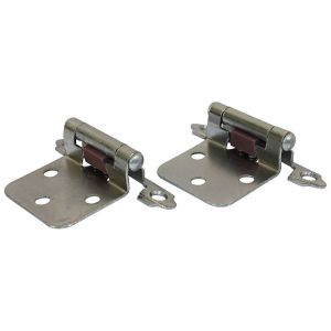 Self Closing Hinge, 3 Knuckle, Chrome Plated
