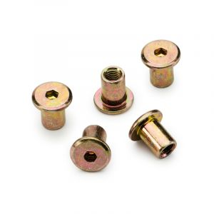 Connecting Cap, Brass Plated, M6 x 12mm