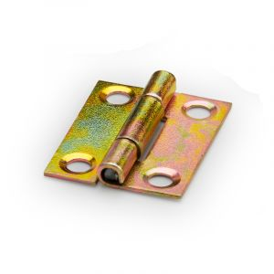 Butt Hinge, Yellow Passivate, 25mm, 8 Pieces