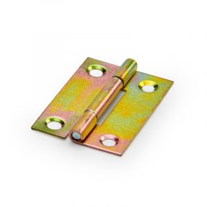 Butt Hinge, Yellow Passivate, 38mm, 4 Pieces
