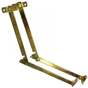 Folding Stay, Brass Plated, 152mm, 2 Pieces