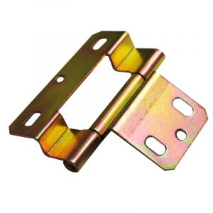 Easy Fit Hinge - 1.2mm Steel - Yellow Passivated