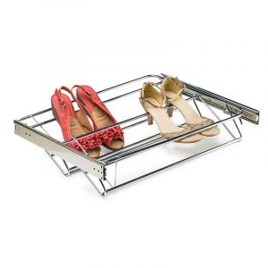 Shoe Rack, Pull Out, Extendable, Chrome Plated
