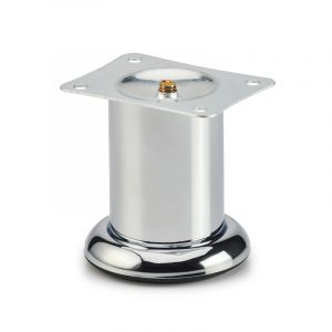 Round Leg on Base, H80mm x 72mm, Chrome Plated
