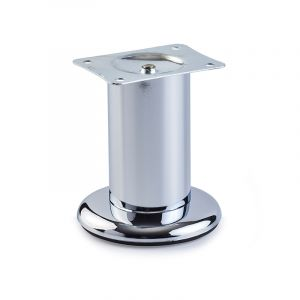 Round Leg on Base, H103mm x 90mm, Chrome Plated