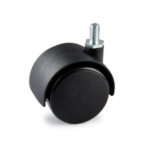 Twin Castor, with Threaded Pin, 50mm