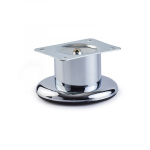 Round Leg on Base, H50mm x 48mm, Chrome Plated