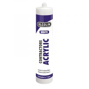 Alcolin Contractors Acrylic, White, 260ml