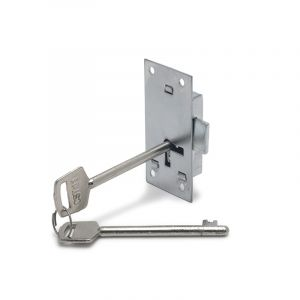 Cupboard Lock, 2 Lever, Chrome Plated