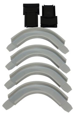 Roller Shutter Handle Guides with 4 Corners, Grey