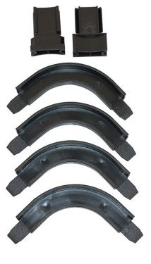 Roller Shutter Handle Guides with 4 Corners, Black