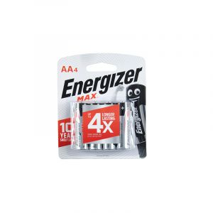 Energizer MAX Batteries, AA, 4 Pieces