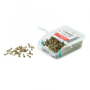 Chipboard Screws, Pozi, No.4, 2.8mm x 19mm, 700 Pieces