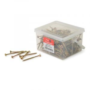 Chipboard Screws, Pozi, No.10, 4.8mm x 75mm, 200 Pieces