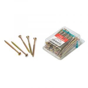 Chipboard Screws, Pozi, No.10, 4.8mm x 75mm, 40 pieces