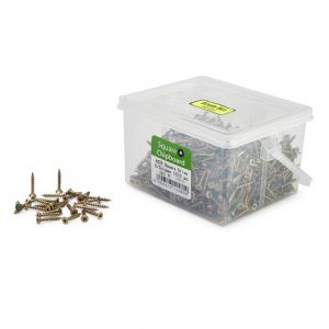 Chipboard Screws, Square, No.6, 3.5mm x 25mm, 1000 Pieces