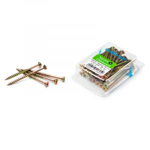 Chipboard Screws, Square, No.10, 4.8mm x 75mm, 40 Pieces