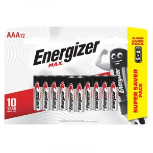 Energizer MAX Batteries, AAA, 12 Pieces