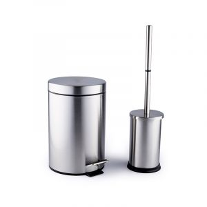 Bathroom Set, Stainless Steel, 2 Pieces