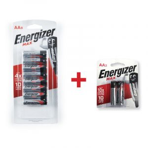 Energizer MAX Batteries, AA, 8 + 2 Pieces
