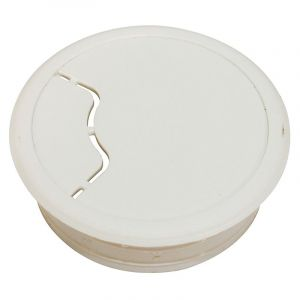 Cable Outlet, 64mm, White