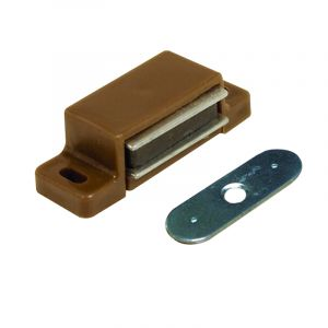 Magnetic Catch, Brown, Plastic, 2 Pieces
