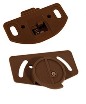 Slide Line 55 Runners and Guides, Brown, 4 Pieces