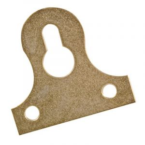 Key Hole Plate, Yellow Passivated, 38mm, 8 Pieces
