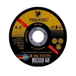 Pegatec Cutting Disc, Steel & Stainless Steel, 115mm x 1.2mm x 22.2mm
