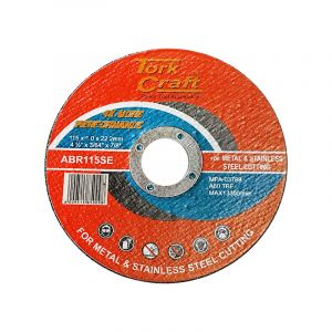 Tork Craft Cutting Disc, Metal & Stainless Steel, 115mm x 1.0mm x 22.2mm