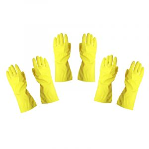 Rubber Household Gloves, Large, 3 Pieces
