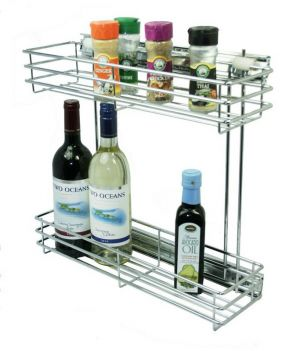 Side Mounted Pull Out, 2 Tier, Chrome Plated, 300 Unit