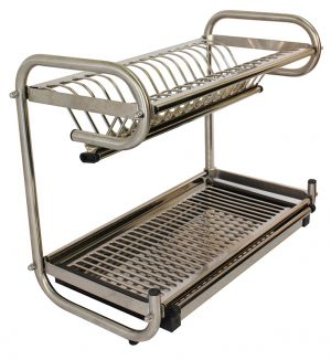 Dish Rack, Stainless Steel, Free Standing / Wall Mounted