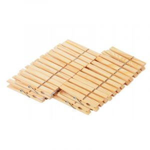 Clothes Pegs, Wood, 48 Pieces