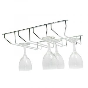 Wine Glass Holder, Chrome Plated, 4 Row