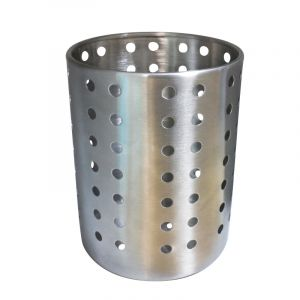 Perforated Cutlery Holder, Stainless Steel