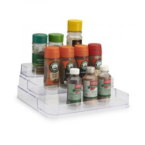Spice Tray, 3 Tier, Stepped, Clear, 245mm x 264mm x 105mm