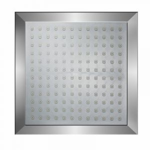Shower Rose, Square, Chrome Plated, 200mm