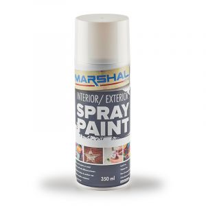 Marshal Spray Paint, Gloss White, 350ml
