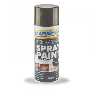 Marshal Spray Paint, Gloss Black, 350ml