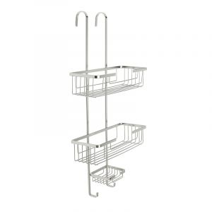 Hook-over Shower Caddy, Stainless Steel