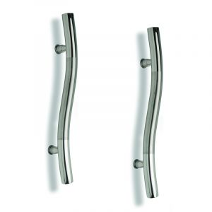 Entrance Door Handle, Large S-Shaped, Stainless Steel, 530mm