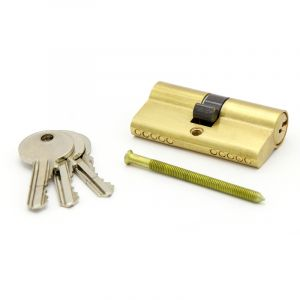 Cylinder Lock, Brass Plated