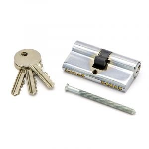 Cylinder Lock, Chrome Plated
