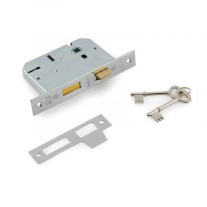2 Lever Lock Body, Chrome Plated