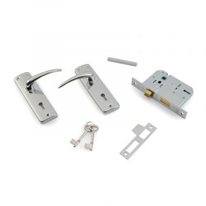 2 Lever Lock Set, Chrome Plated
