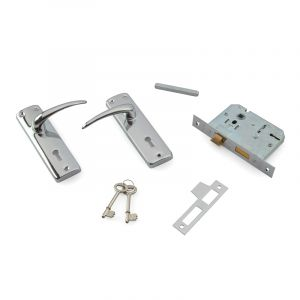 3 Lever Lock Set, Chrome Plated